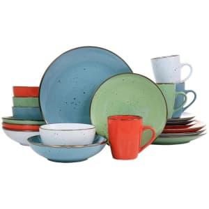 Elama Evelyn 20-Piece Mix & Match Stoneware Dinnerware Set for $38