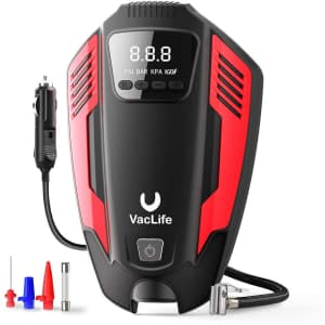 VacLife Air Compressor Portable 12V Tire Inflator for $20