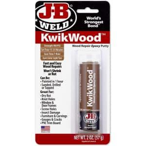 J-B Weld 1-oz. KwikWood Wood Repair Epoxy Putty Stick for $5