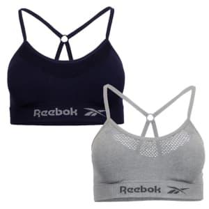Reebok Women's Seamless Bralette 2-Pack for $8