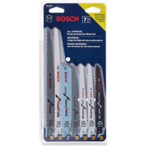 Bosch 7-Piece Reciprocating Saw Blade Set for $10