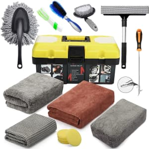 Mofeez 15-Piece Car Cleaning Kit for $23