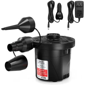Electric Air Pump for Inflatable Mattresses, Pool Toys, and more for $8