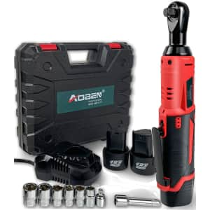 "Aoben 3/8"" 12V Cordless Electric Ratchet Wrench Set for $68"