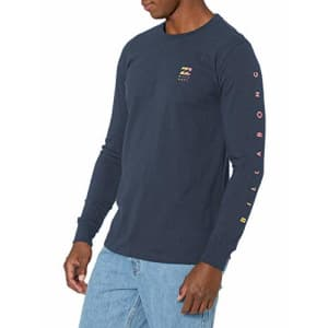 Billabong Men's Long Sleeve Premium Logo Graphic Tee T-Shirt, Navy Unity LS, S for $30