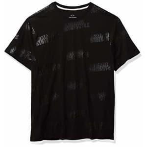 A X Armani Exchange Men's T-Shirt, Black 3D Logo, S for $40
