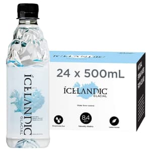 Icelandic 16-oz. Glacial Natural Spring Alkaline Water 24-Pack for $25 via Sub & Save