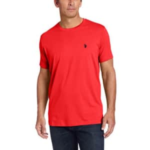 U.S. Polo Assn. Men's Crew Neck Small Pony T-Shirt, Bachelor Blue, L for $14