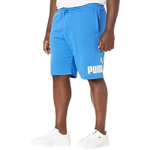 "PUMA Men's Big Logo 10"" Shorts BT, Nebulas Blue/White, 4XL for $17"