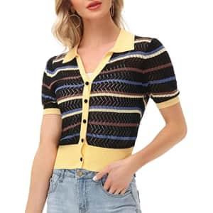 Kancy Kole Women's Button Down Sweater for $7