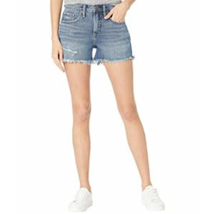 Silver Jeans Co. Women's Not Your Boyfriend High Rise Jean Shorts, Indigo, 33 3.5 for $39