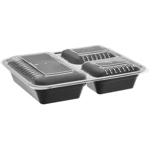 Amazon Basics 3-Compartment Meal Prep Container 20-Pack for $17