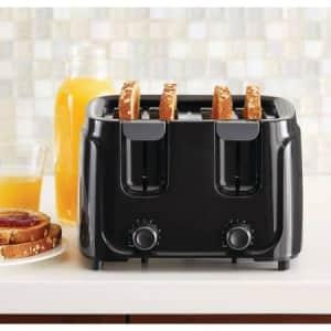 Mainstays 4-Slice Toaster, Black for $35