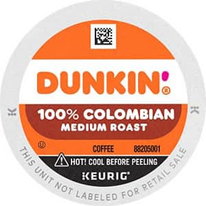 Dunkin Donuts Dunkin' 100% Colombian Medium Roast Coffee, 60 K Cups for Keurig Coffee Makers (Packaging May Vary) for $62