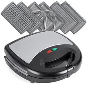 Best Choice Products 3-in-1 750W Dishwasher Safe Non-Stick Stainless Steel Electric Sandwich Waffle for $80