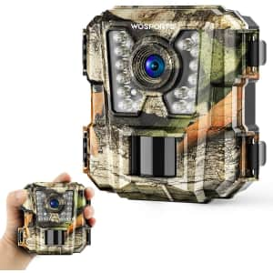 WoSports 1080P HD Mini Trail Camera with IR Night Vision for $40