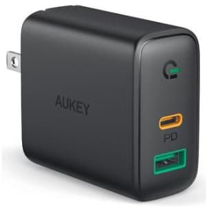Aukey Focus Mix 30W Dual-Port PD Charger for $9