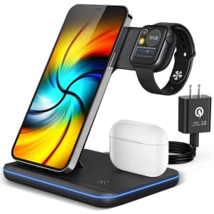 Zooulai 3-in-1 Wireless Charger Stand for $14