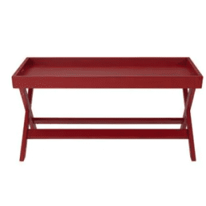 """StyleWell 40"""" Solid Wood Tray Top Coffee Table for $65"""