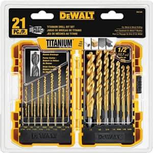 DeWalt Titanium Pilot Point Drill Bit 21-Piece Set for $26