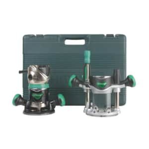 Metabo Hitachi KM12VC 2-1/4 Peak HP Variable Speed Fixed/Plunge Base Router Kit for $178