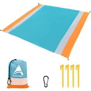 """Aisparky 78"""" x 81"""" Beach Blanket for $9"""