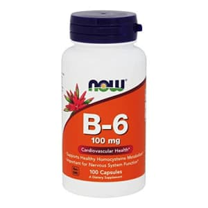 B-6 100mg Now Foods 100 Caps for $7