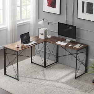 Vecelo L-Shaped Corner Desk for $69