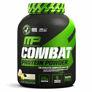 Muscle Pharm MusclePharm Combat Protein Powder, 5 Protein Blend, Vanilla, 4 Pounds for $44