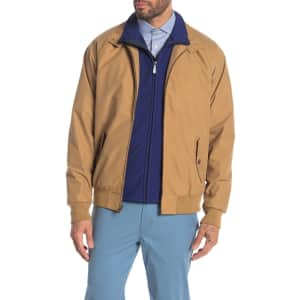 Weatherproof Vintage Men's Mock Neck Bomber Jacket for $22
