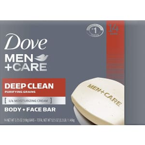 Dove Men+Care Deep Clean Bar Soap 14-Pack for $12 via Sub & Save