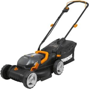 "Worx 40V PowerShare Cordless 14"" Lawn Mower w/ Mulching for $164"