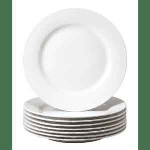Thomson Pottery Basic Stoneware Dinner Plate 8-Pack for $21