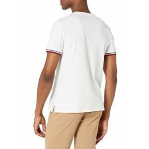 Tommy Hilfiger mens Tommy Hilfiger Men's Short Sleeve Crewneck T Shirt, Bright White-pt, Large US for $38