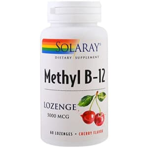 Solaray Methyl B12, Lozenge, Cherry (Btl-Plastic) 5000mcg | 60ct for $21