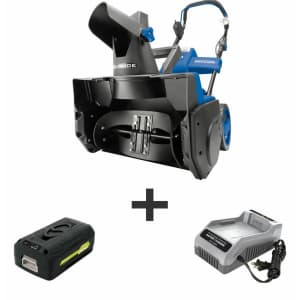 "Snow Joe Ion Pro 40V Cordless 18"" Snow Blower w/ 5Ah Battery for $180"
