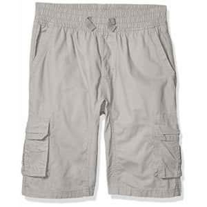 Southpole - Kids Boys' Big Belted Mini Canvas Cargo Shorts in, Light Grey 4, Medium for $16