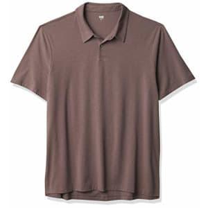 PAIGE Men's Burke Polo TEE Shirt, Smoked Wine, XXL for $84