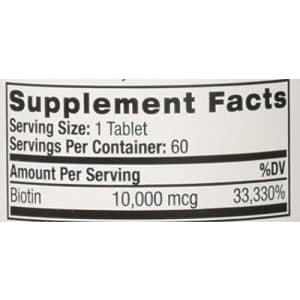 Natrol Biotin 10000mcg FST Dslv for $11