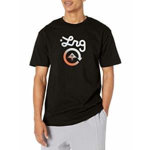 LRG Men's Spring 21 Graphic Designed T-Shirt, Western Logo Black, Small for $14