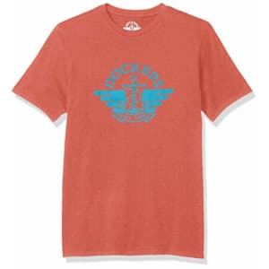 Dockers Men's Short Sleeve Crewneck T-Shirt, Lantana Light Blue Logo, X-Large for $14