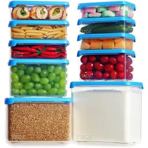 Lockcoo 20-Piece Food Storage Container Set for $15