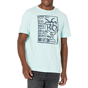 RVCA Men's Spring Short Sleeve T-Shirt, ICE Blue, L for $20