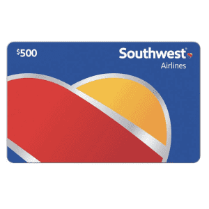 Southwest Airlines $500 Gift Card: $449.99