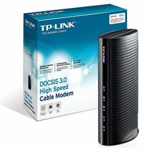 TP-Link DOCSIS 3.0 (16x4) High Speed Cable Modem, Max Download Speeds of 686Mbps, Certified for for $105
