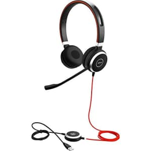 Jabra Evolve 40 UC Stereo Wired Headset / Music Headphones (U.S. Retail Packaging) for $115