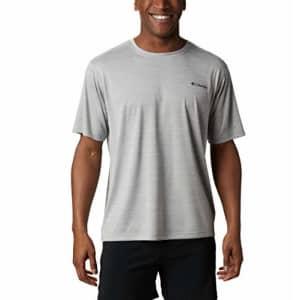 Columbia Men's Zero Rules Short Sleeve Shirt, Grey Heather, Small for $20