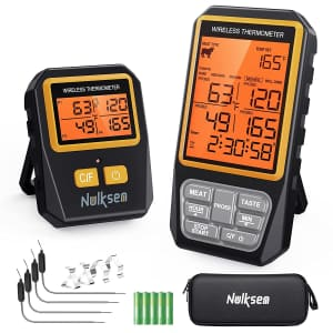 Nulksen Wireless Digital Meat Thermometer for $12