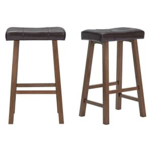 """StyleWell 30"""" Upholstered Saddle Seat Bar Stool: 2pk for $62 or 4pk for $111"""
