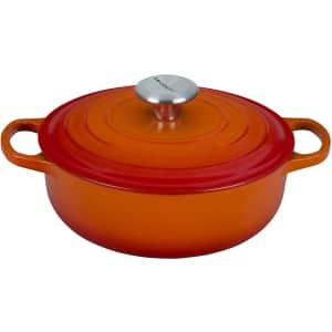 Le Creuset 3.5-Quart Enameled Cast Iron Sauteuse Pan for $180